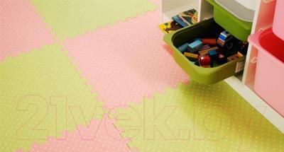 Коврик-пазл KidsTime MD1149 (розовый) - в интерьере