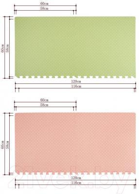 Коврик-пазл KidsTime MD1220 (зеленый) - размеры элемента