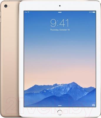 Планшет Apple iPad Air 2 16Gb 4G / MH1C2RU/A (золотой) - с задней паннелью