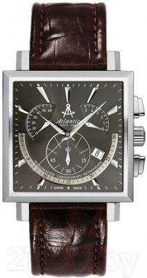 Часы мужские наручные ATLANTIC Worldmaster Square Chronograph 54450.41.41 - общий вид