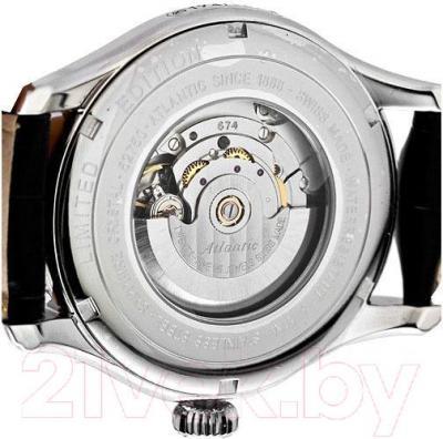 Часы мужские наручные ATLANTIC Worldmaster Lusso 52750.41.25R - видимый механизм