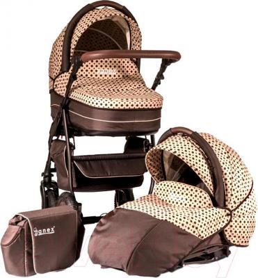 Детская универсальная коляска Anex Elana 2 в 1 (бежевый) - общий вид