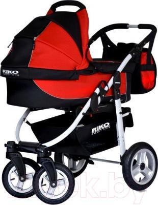 Детская универсальная коляска Riko Amigo (Warm Red) - общий вид