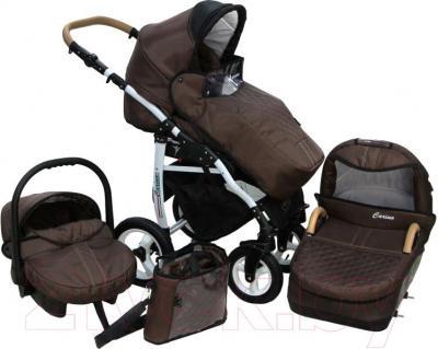 Детская универсальная коляска Dada Paradiso Group Carino 3в1 (Cream) - комплектация на примере цвета 06