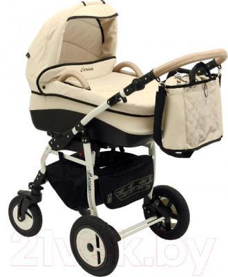 Детская универсальная коляска Dada Paradiso Group Carino 3в1 (Cream) - общий вид