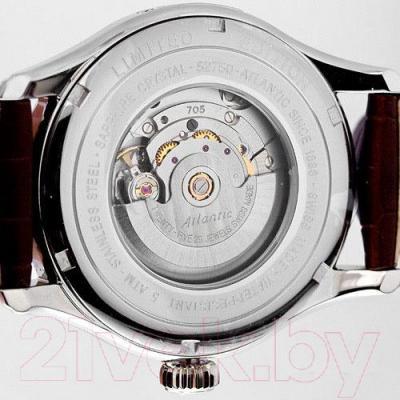 Часы мужские наручные ATLANTIC Worldmaster Lusso 52750.41.45R - видимый механизм