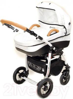Детская универсальная коляска Dada Paradiso Group Carino 3в1 (Gray) - люлька