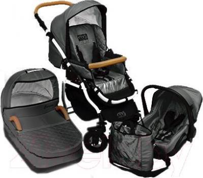 Детская универсальная коляска Dada Paradiso Group Carino 3в1 (Gray) - общий вид
