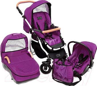 Детская универсальная коляска Dada Paradiso Group Carino 3в1 (Violet) - общий вид
