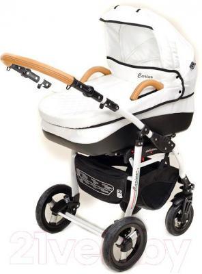 Детская универсальная коляска Dada Paradiso Group Carino 2в1 (White) - люлька