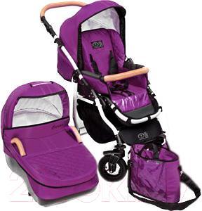 Детская универсальная коляска Dada Paradiso Group Carino 2в1 (Violet) - общий вид