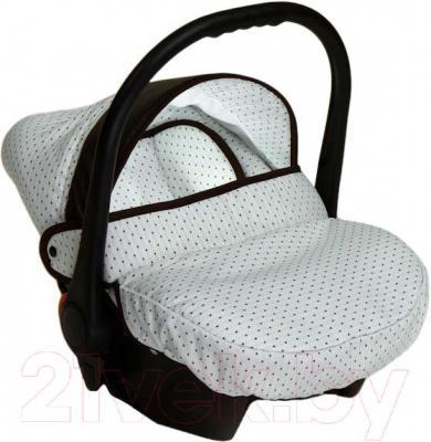 Детская универсальная коляска Dada Paradiso Group Romance Dots 3в1 - автокресло