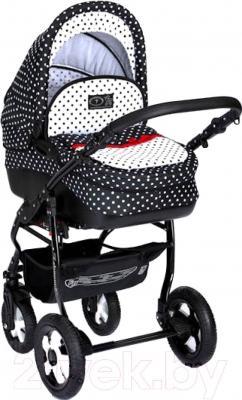 Детская универсальная коляска Dada Paradiso Group Glamour Dots 3в1 - общий вид