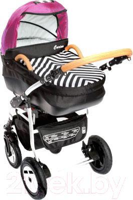 Детская универсальная коляска Dada Paradiso Group Carino New 3в1 (Pink) - общий вид