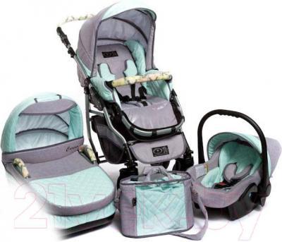 Детская универсальная коляска Dada Paradiso Group Carino Pastel 3в1 (Mint) - общий вид