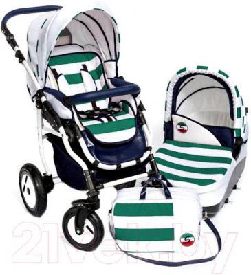 Детская универсальная коляска Dada Paradiso Group Super Sailor 3в1 (Green) - общий вид