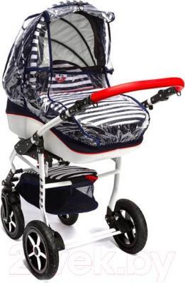 Детская универсальная коляска Dada Paradiso Group Super Sailor 3в1 (Blue) - дождевик