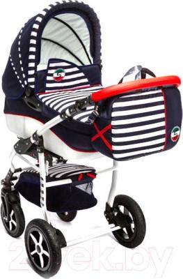 Детская универсальная коляска Dada Paradiso Group Super Sailor 3в1 (Blue) - общий вид
