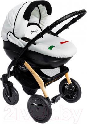 Детская универсальная коляска Dada Paradiso Group Carmelo Design 3в1 (White) - общий вид