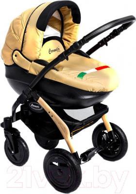 Детская универсальная коляска Dada Paradiso Group Carmelo Design 3в1 (Beige) - общий вид