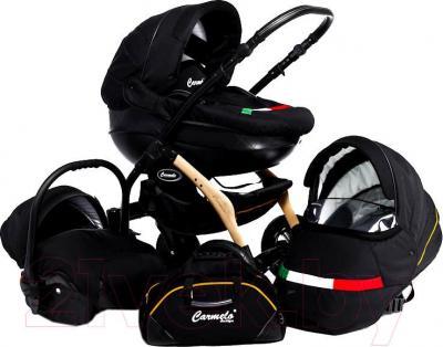 Детская универсальная коляска Dada Paradiso Group Carmelo Design 3в1 (Black) - общий вид