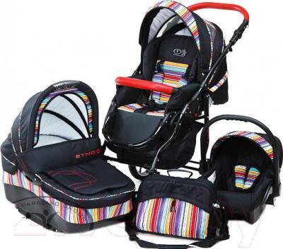 Детская универсальная коляска Dada Paradiso Group Etno Paski 3в1 - общий вид