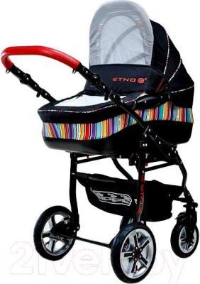 Детская универсальная коляска Dada Paradiso Group Etno Paski 2в1 - общий вид