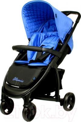 Детская прогулочная коляска 4Baby Atomic (синий) - общий вид