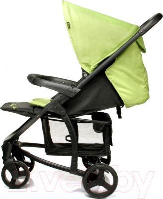 Детская прогулочная коляска 4Baby Atomic (зеленый) - вид сбоку