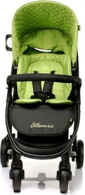 Детская прогулочная коляска 4Baby Atomic (зеленый) - вид спереди