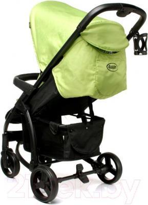 Детская прогулочная коляска 4Baby Atomic (зеленый) - вид сзади