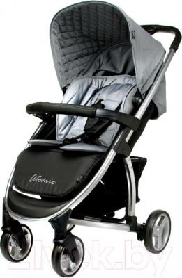 Детская прогулочная коляска 4Baby Atomic (серый) - общий вид