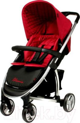 Детская прогулочная коляска 4Baby Atomic (красный) - общий вид