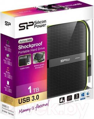Внешний жесткий диск Silicon Power Armor A60 1TB (SP010TBPHDA60S3K) - упаковка