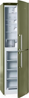 Холодильник с морозильником ATLANT ХМ 4425-070 N - с полуоткрытой дверцей