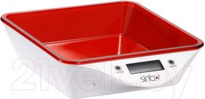 Кухонные весы Sinbo SKS-4520 (красный) - общий вид
