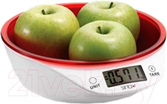 Кухонные весы Sinbo SKS-4521 (красный) - общий вид