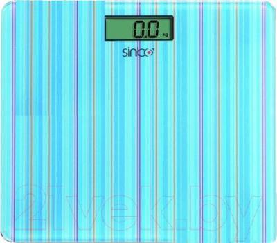 Напольные весы электронные Sinbo SBS 4427 (голубая полоска) - общий вид
