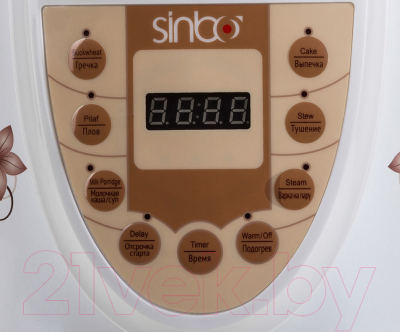 Мультиварка Sinbo SCO-5034 (белый) - панель