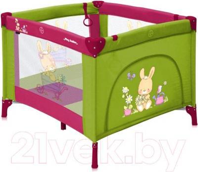 Игровой манеж Lorelli Play Station (Green-Pink Bunnies) - общий вид