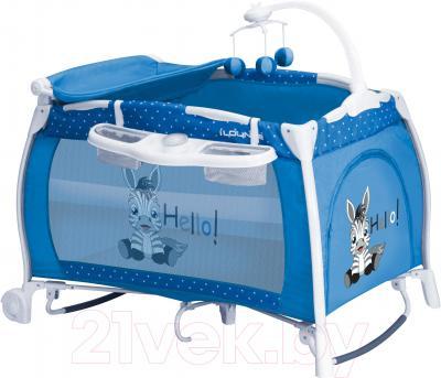 Кровать-манеж Lorelli I'Lounge Rocker (Blue Zebra) - общий вид