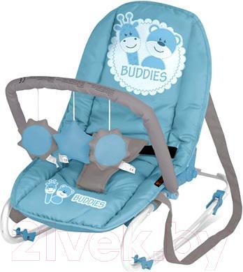 Детский шезлонг Lorelli Top Relax (Blue Buddies) - общий вид
