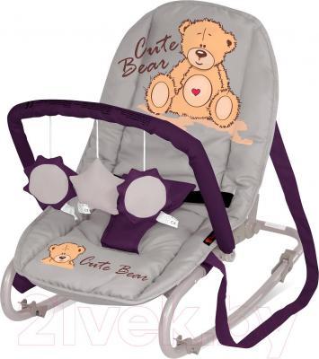 Детский шезлонг Lorelli Top Relax (Gray-Violet Bear) - общий вид