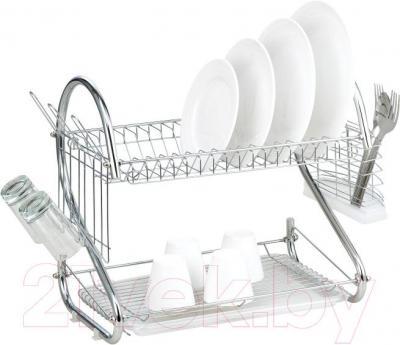 Сушилка для посуды Peterhof PH-12863 - общий вид (столовые приборы и посуда в комплект поставки не входят)