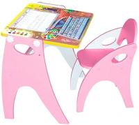 Парта-мольберт+стул Интехпроект Фиксики 14-401 (розовый) -