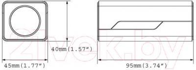 IP-камера GeoVision GV-EBX1100-0F - габаритные размеры
