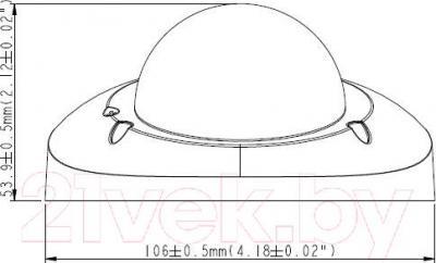 IP-камера GeoVision GV-MFD1501-0F - габаритные размеры