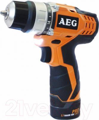 Профессиональная дрель-шуруповерт AEG Powertools BS 12C2 LI-152BF (4935431635) - общий вид