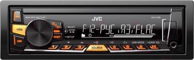 Бездисковая автомагнитола JVC KD-X125EED - общий вид