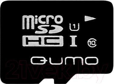 Карта памяти Qumo microSDHC (UHS-1) 16GB (QM16GMICSDHC10U1) - общий вид